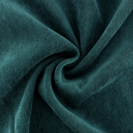 Ribbed velvet fabric - Peacock green Billie x 10cm