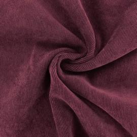 Tissu velours côtelé fluide Billie - Aubergine x 10cm