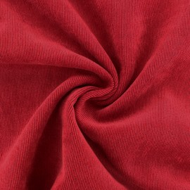 Ribbed velvet fabric - Poppy Red Billie x 10cm