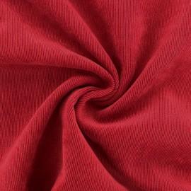 Tissu velours côtelé fluide Billie - Rouge Coquelicot x 10cm