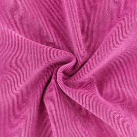 Ribbed velvet fabric - Fuchsia pink Billie x 10cm
