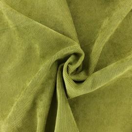 Tissu velours côtelé fluide Billie - vert mousse x 10cm