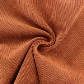Tissu velours côtelé fluide Billie - Briquette x 10cm