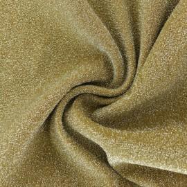 Tissu Jersey maille lurex - doré x 10cm