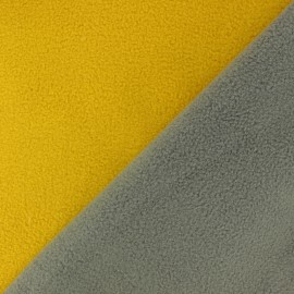 Reversible polar fabric - Grey/blue x 10cm