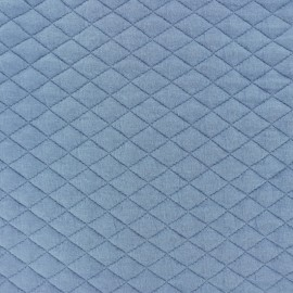 Quilted fabric single-sided Diamond - Blue x 10cm