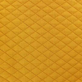 Tissu matelassé simple face losanges - curcuma x10cm
