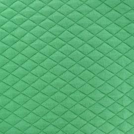 Tissu matelassé simple face losanges - vert printemps x10cm