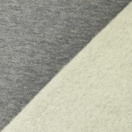 Tissu sweat molletonné épais Arthur - gris chiné x 10cm