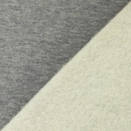 Thick Sweatshirt fabric - mottled grey Arthur x 10cm