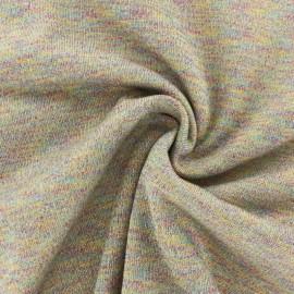 Tissu sweat léger lurex -Arc en ciel x 10cm