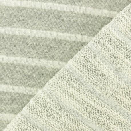 Tissu coton sweat léger Malo - bleu marine x 10cm