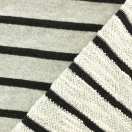 Tissu coton sweat léger Malo - noir x 10cm