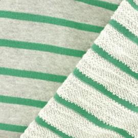 Tissu coton sweat léger Malo - vert x 10cm
