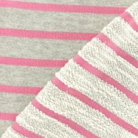 ♥ Coupon 20 cm X 155 cm ♥ Tissu coton sweat léger Malo - rose
