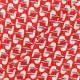 Tissu crêpe Georgette Mouette - rouge x 10cm