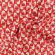 Georgette Crêpe Fabric - red Seagull x 10cm