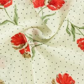 Tissu crêpe Bellinda - écru x 10cm