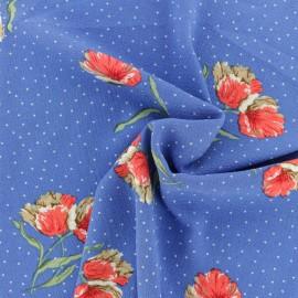 Tissu crêpe Bellinda - bleu x 10cm