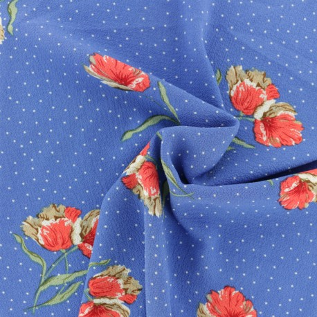 Crepe fabric Bellinda - blue x 10cm