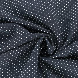 Tissu Viscose mini pois - bleu marine x 10cm