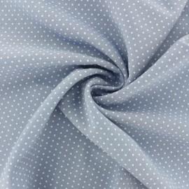 Tissu Viscose mini pois - bleu Niagara x 10cm