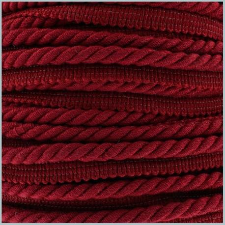 Furnishing flange insertion piping cord - carmine x 1m