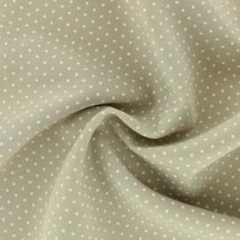 Dotted Viscose Fabric - beige x 10cm