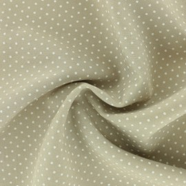 Tissu Viscose mini pois - beige x 10cm
