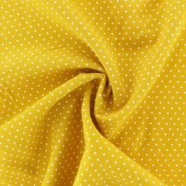 Tissu Viscose mini pois - jaune moutarde x 10cm