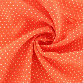 ♥ Coupon 70 cm X 140 cm ♥ Dotted Viscose Fabric - orange