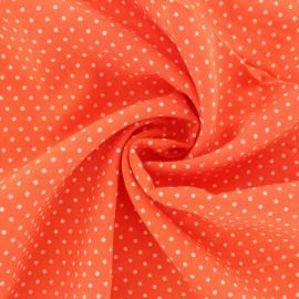 Dotted Viscose Fabric - orange x 10cm