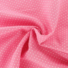 Dotted Viscose Fabric - red x 10cm