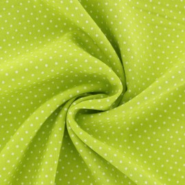 Dotted Viscose Fabric - lime green x 10cm
