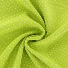 Tissu Viscose mini pois - vert anis x 10cm
