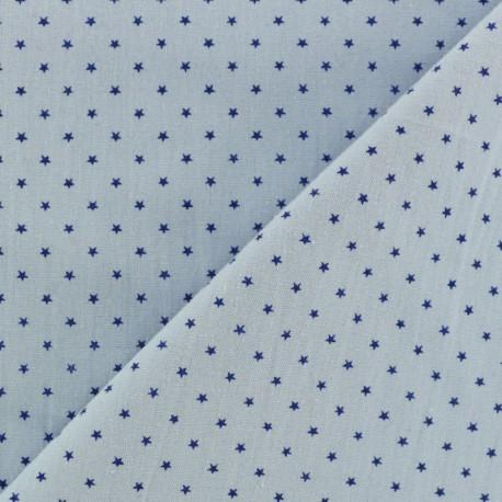 Poplin Cotton fabric - white unicorn x 10cm