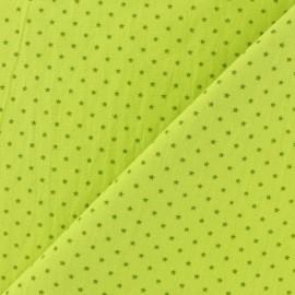 Tissu coton popeline Mini étoile - Anis/vert x 10cm