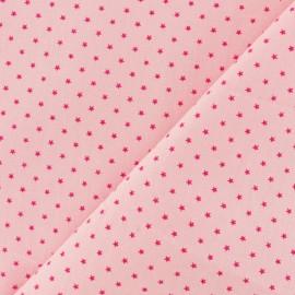 Tissu coton popeline Mini étoile - Mandarine/orange x 10cm
