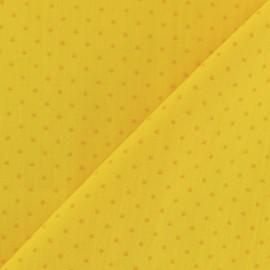 Tissu coton popeline Mini étoile - jaune/moutarde