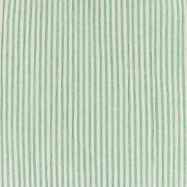 Striped Seersucker fabric - green x 10cm