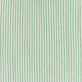 Tissu Seersucker rayé - bleu ciel x 10cm