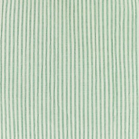 Striped Seersucker fabric - blue x 10cm