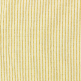 Striped Seersucker fabric - yellow x 10cm