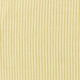 Tissu Seersucker rayé - jaune x 10cm