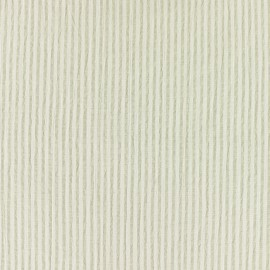 Striped Seersucker fabric - beige x 10cm