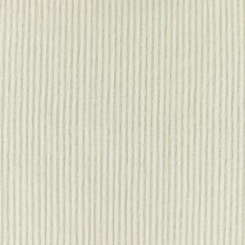 Tissu Seersucker rayé - beige x 10cm