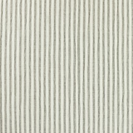 Striped Seersucker fabric - taupe x 10cm