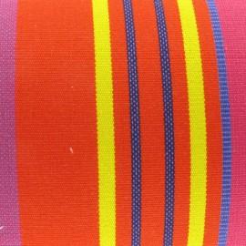 Deckchair Canvas Fabric - Bonbon Plume Capucine (43cm) x 10cm
