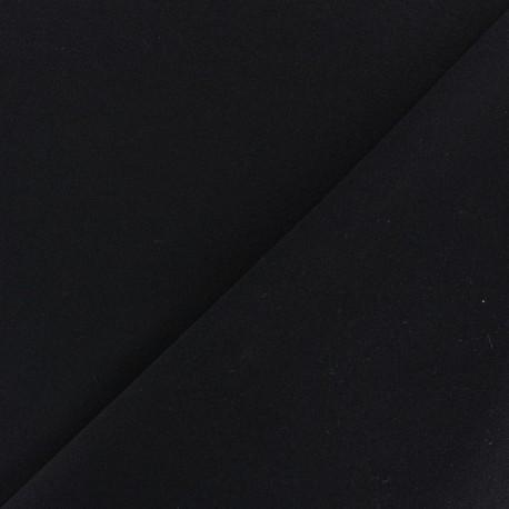 Tissu Néoprène Scuba aspect crêpe fluide - noir x 10cm