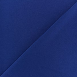 Crepe aspect light scuba fabric - Royal blue x 10cm